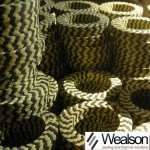 Graphited PTFE & Aramid In Zebra Braided Packing